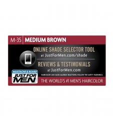 JUST FOR MEN - ZA BRKOVE I BRADU boja: srednje smeđa M35